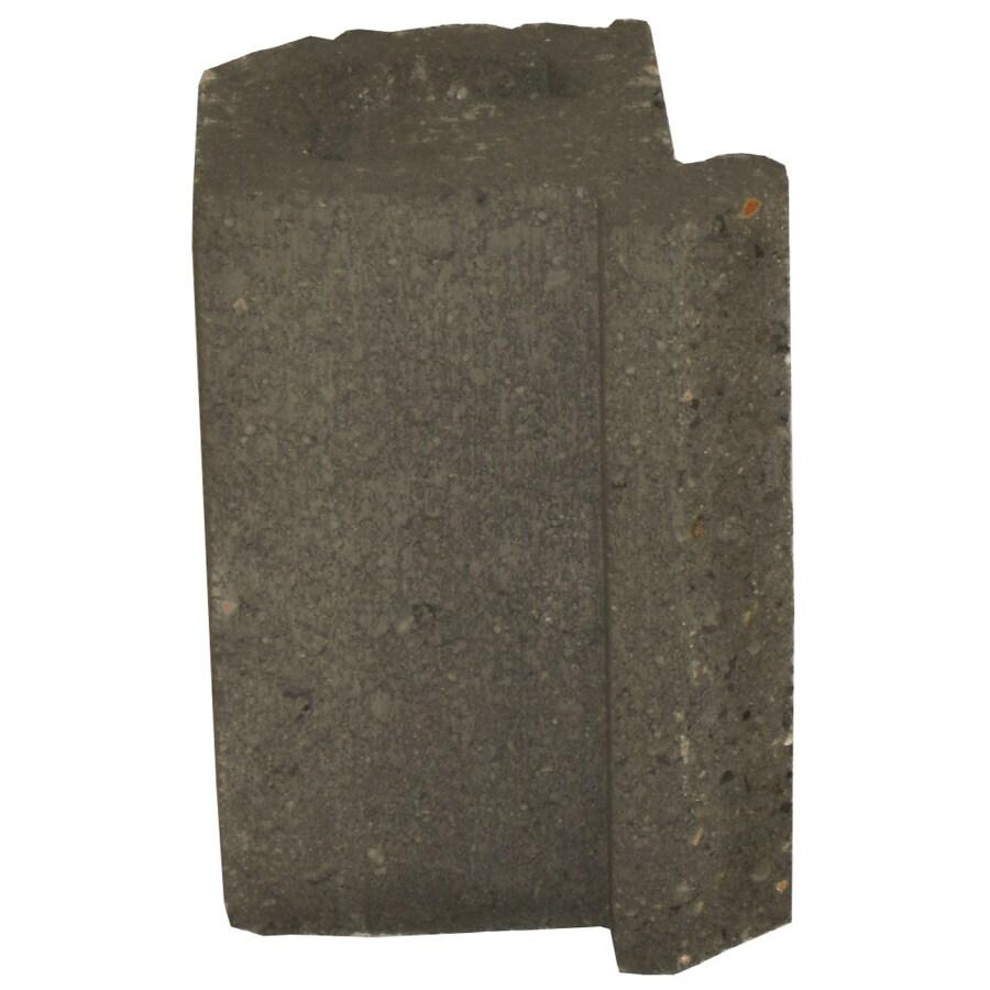 Novabrik 4.25-in x 6-in Charcoal Inside Corner Block Brick Veneer Trim