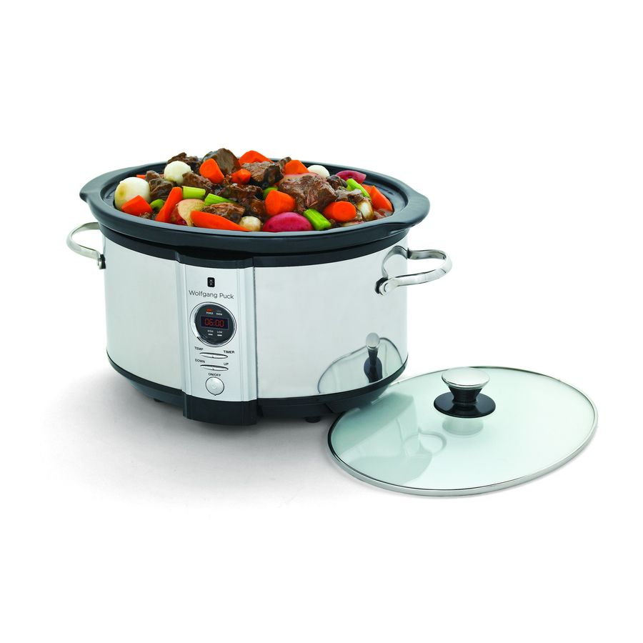Wolfgang Puck 7-Quart Stainless Steel Round Slow Cooker