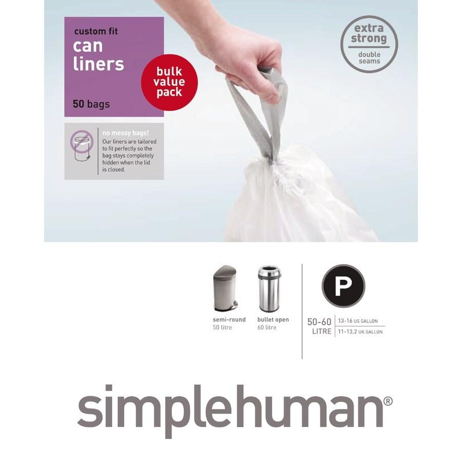 simplehuman 50-Count 16-Gallon Trash Bags
