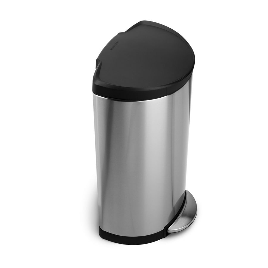 simplehuman 30-Liter Brushed Stainless Steel Trash Can