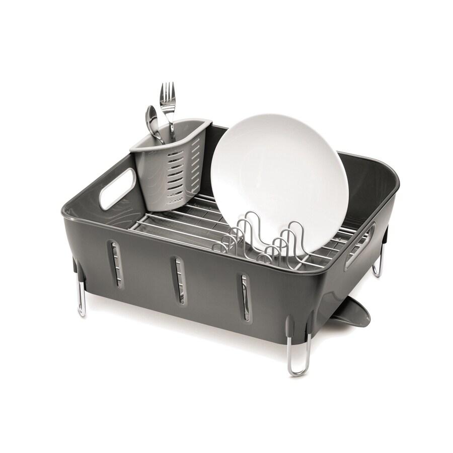 simplehuman 12.9-in W x 14.6-in L x 6.8-in H Plastic Dish Rack