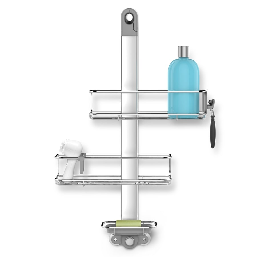 simplehuman 27.6-in H Over the Showerhead Stainless Steel Hanging Shower Caddy