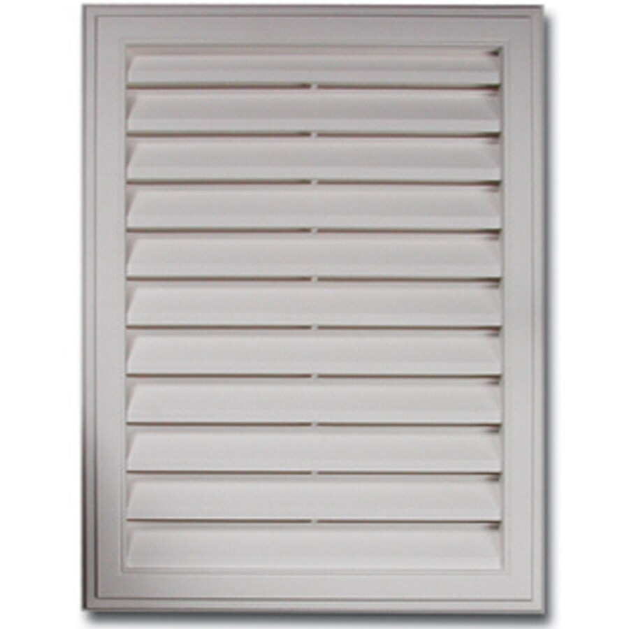 Royal 22-in x 16-in White Rectangle Plastic Gable Vent