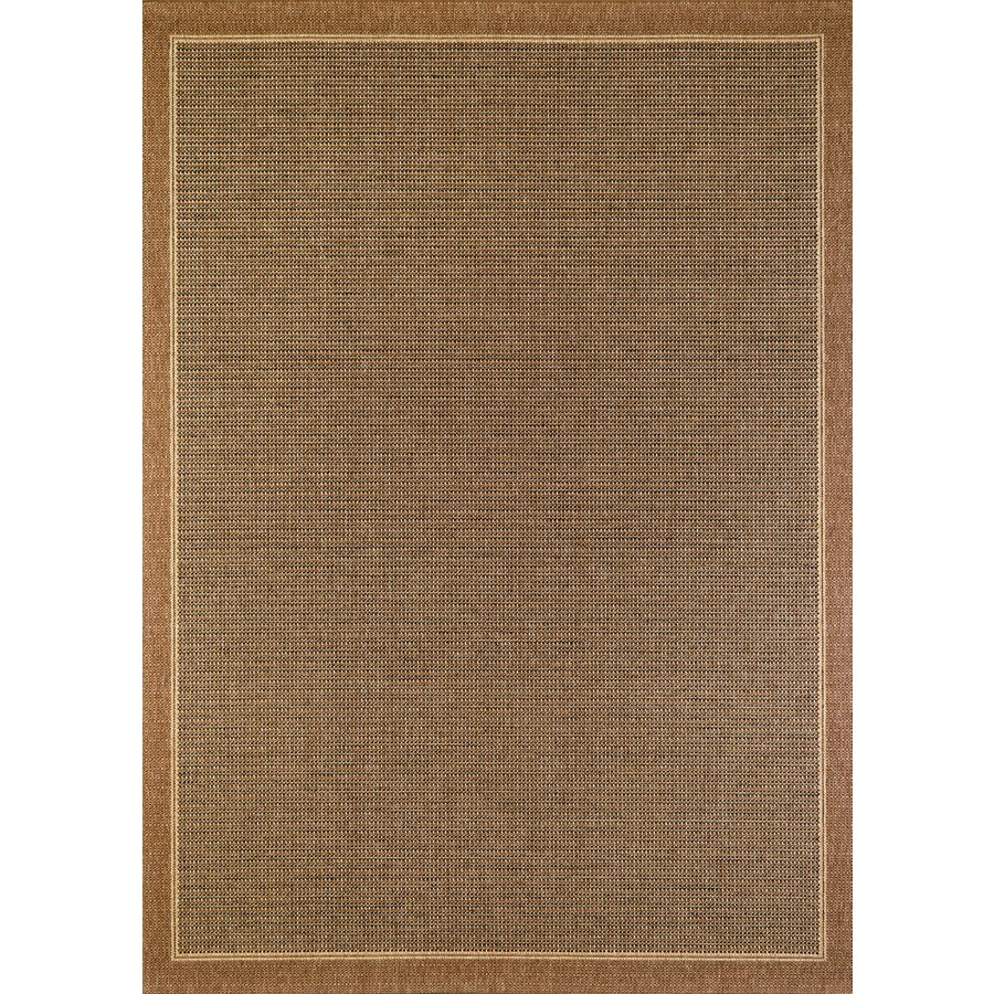 Balta Sisal Brown Havanah Rectangular Indoor/Outdoor Machine-Made Area Rug (Common: 5 x 7; Actual: 63-in W x 89-in L)