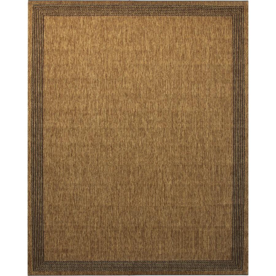 Portfolio Arena Chestnut Rectangular Indoor/Outdoor Machine-Made Area Rug (Common: 8 x 10; Actual: 94-in W x 126-in L)