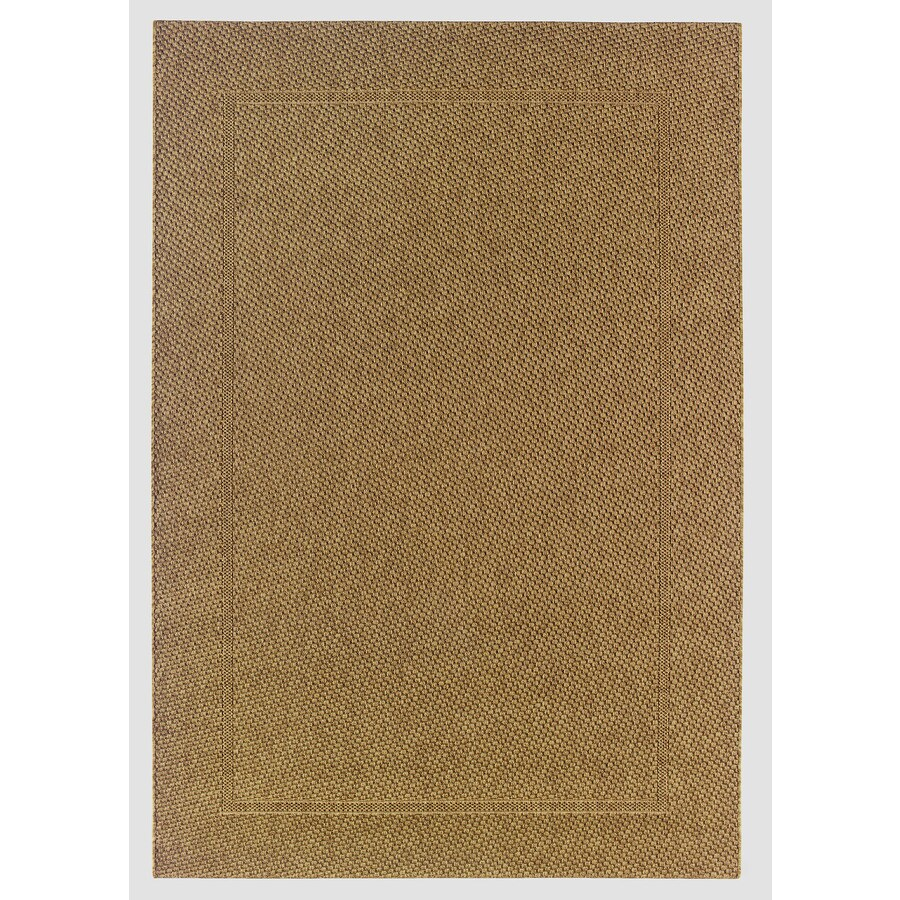 allen + roth Expressway Chestnut Rectangular Indoor/Outdoor Machine-Made Area Rug (Common: 5 x 7; Actual: 63-in W x 86-in L)