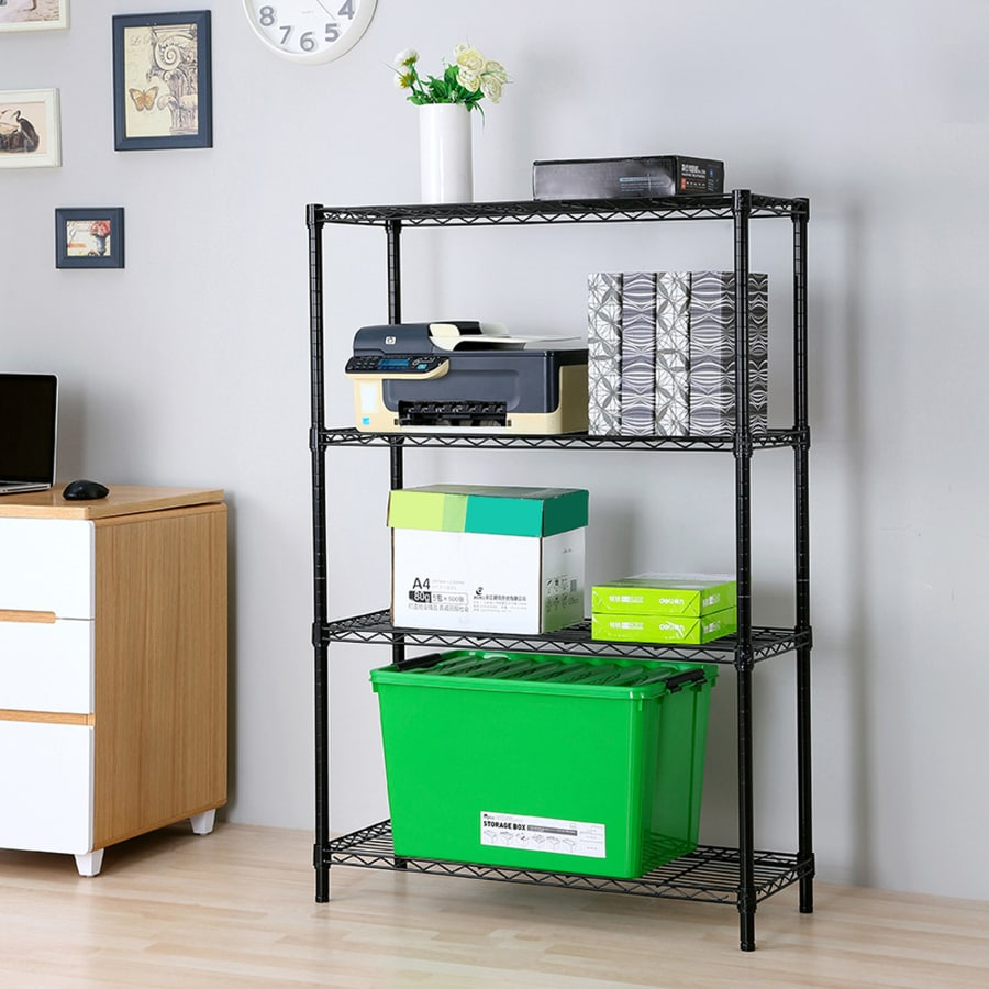 Style Selections 53-in H x 35.7-in W x 14-in D 4-Tier Steel Freestanding Shelving Unit