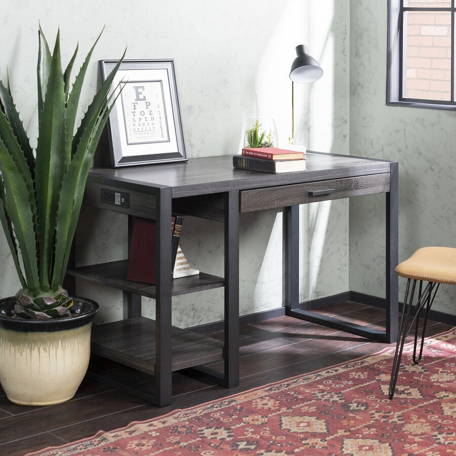 Walker Edison Transitional Wood Laminate Computer Desk