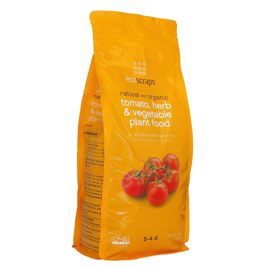 EcoScraps Tomato, Herb and Vegetable 4-lb Organic/Natural Flower and Vegetable Food (5-4-6)