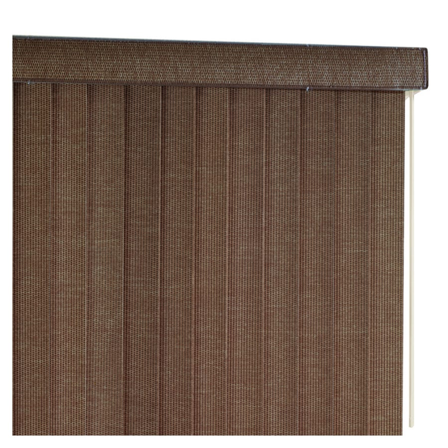 Shop Basic Blindz 3 5 In Walnut Fabric Light Filtering