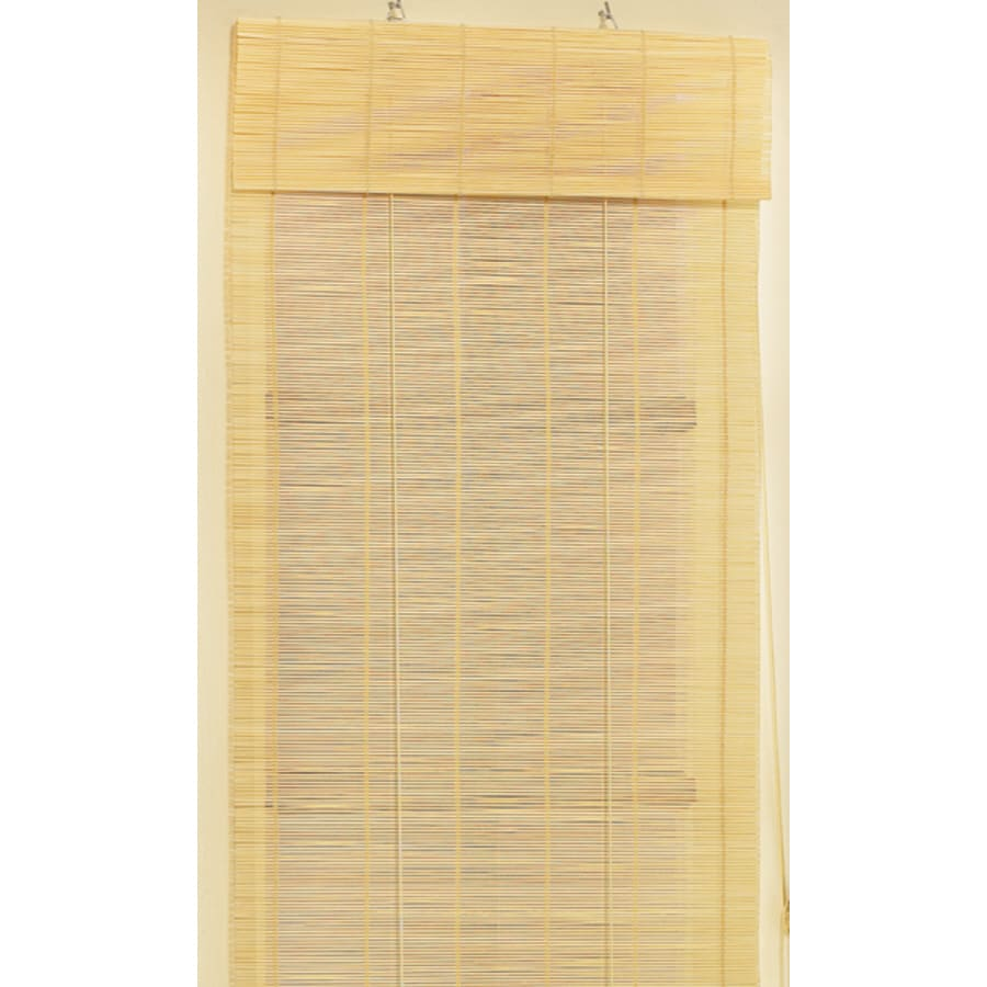 Shop Style Selections 24 In W X 72 In L Natural Light Filtering Roll Up Shade At