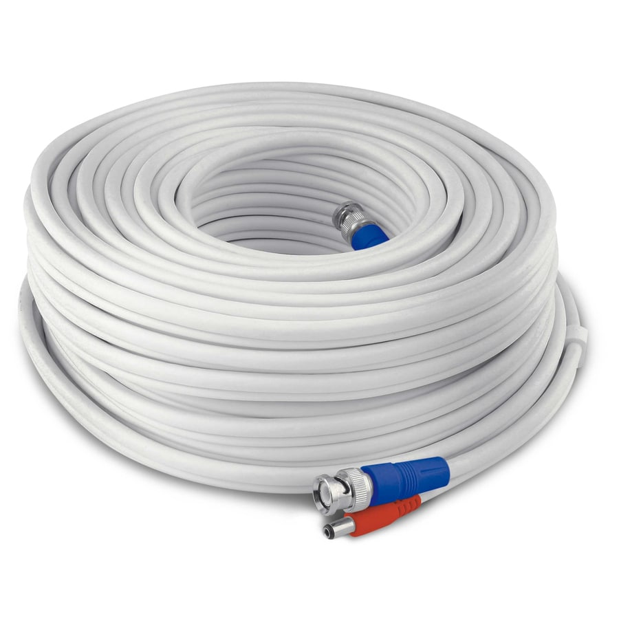 Shop Swann Bnc 100 Ft 18 1 Solid Shielded White Security