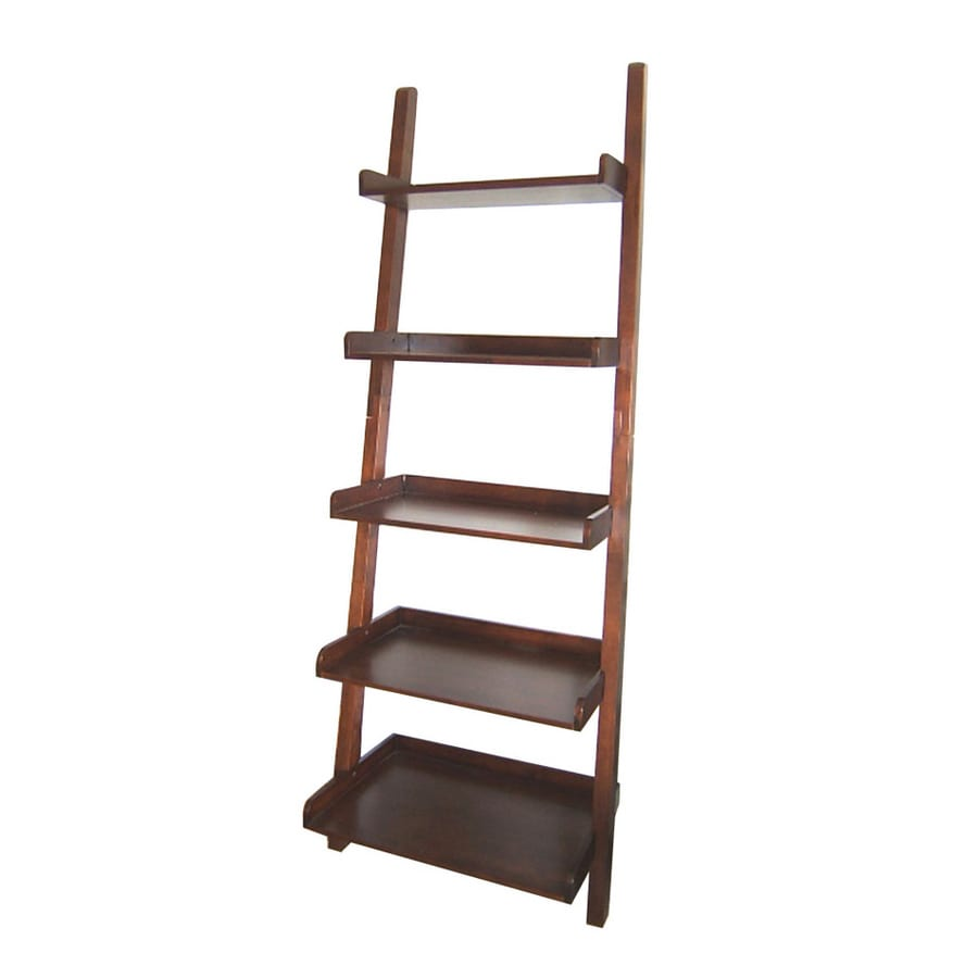 Real Organized 75-in H x 27.75-in W x 17.75-in D 5-Tier Wood Freestanding Shelving Unit