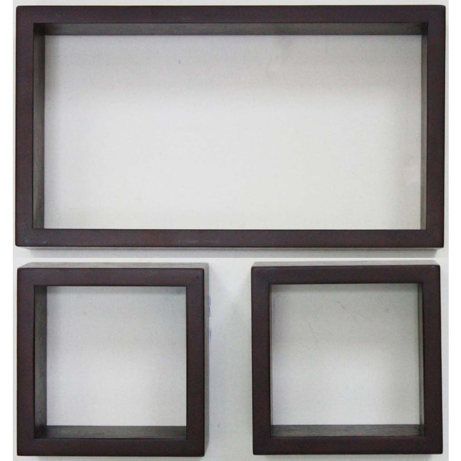 allen + roth 16-in W x 9-in H x 3.75-in D Wood Wall Mounted Shelving