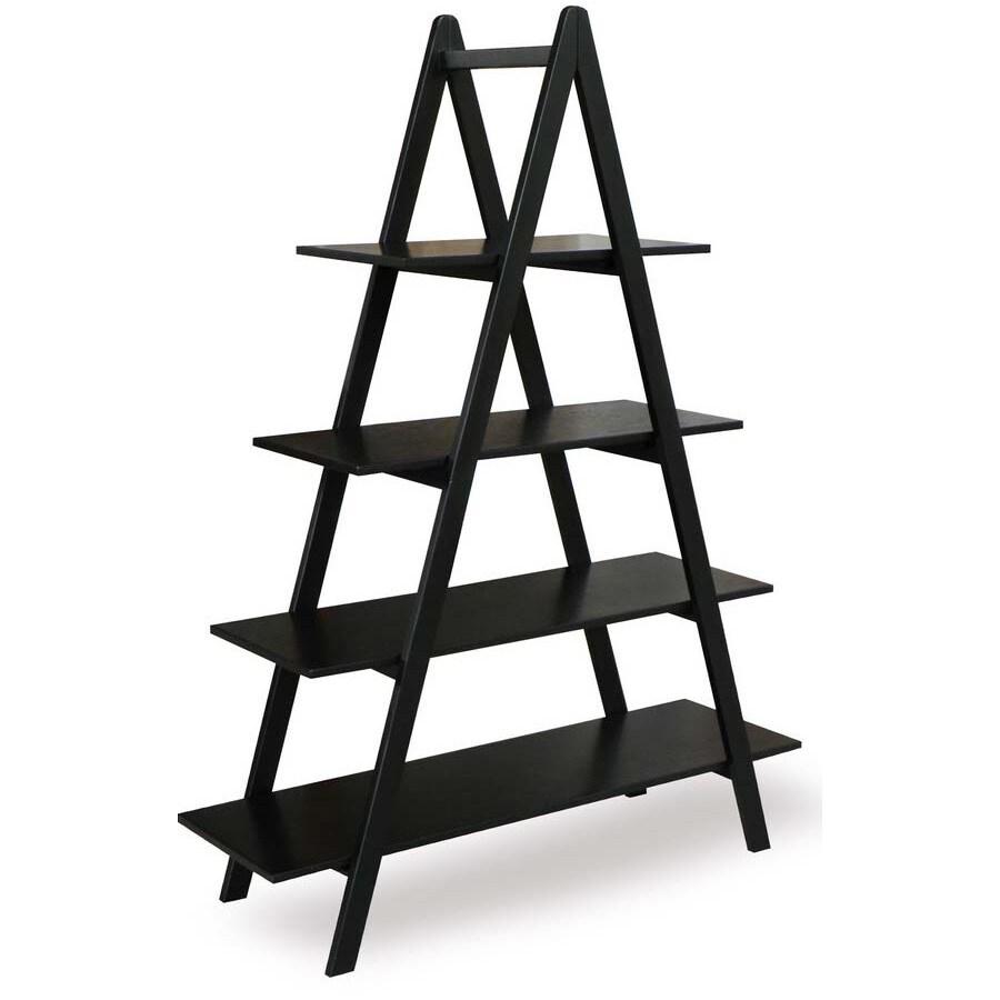 allen + roth 60-in H x 45-in W x 15-in D 4-Tier Wood Freestanding Shelving Unit