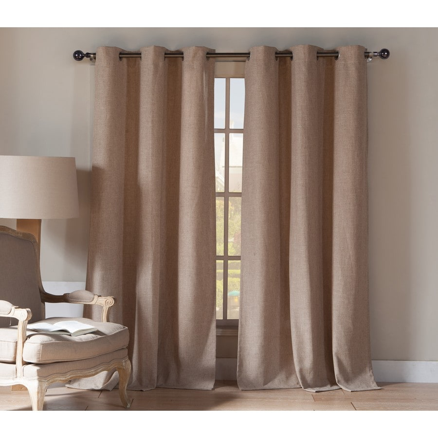 Shop Duck River Textile 84 In Wheat Polyester Grommet Light Filtering Curtain Panel Pair At