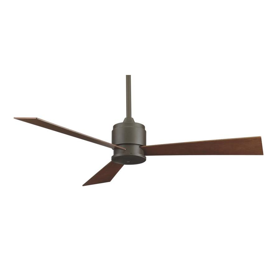 Fanimation Zonix Damp Location 52-in Polished Nickel Downrod Mount Indoor/Outdoor Ceiling Fan (3-Blade)