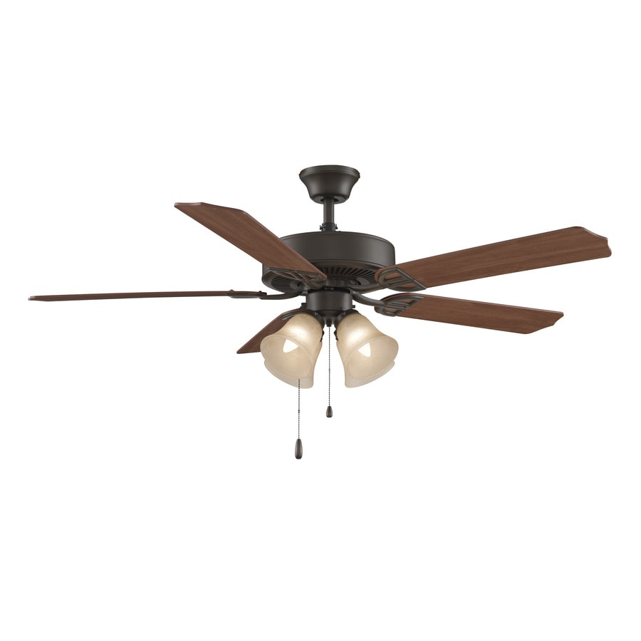 Fanimation Builder Series 52-in Oil-Rubbed Bronze Downrod Mount Indoor Ceiling Fan with Light Kit