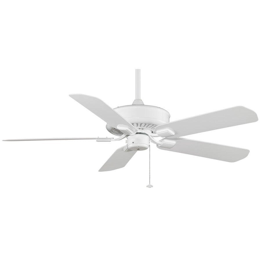 Fanimation Edgewood Wet Location 50-in White Downrod Mount Indoor/Outdoor Ceiling Fan ENERGY STAR