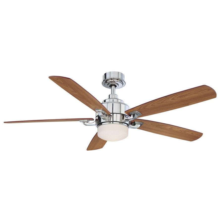Fanimation Benito 52-in Polished Nickel Downrod Mount Indoor Residential Ceiling Fan with Light Kit and Remote