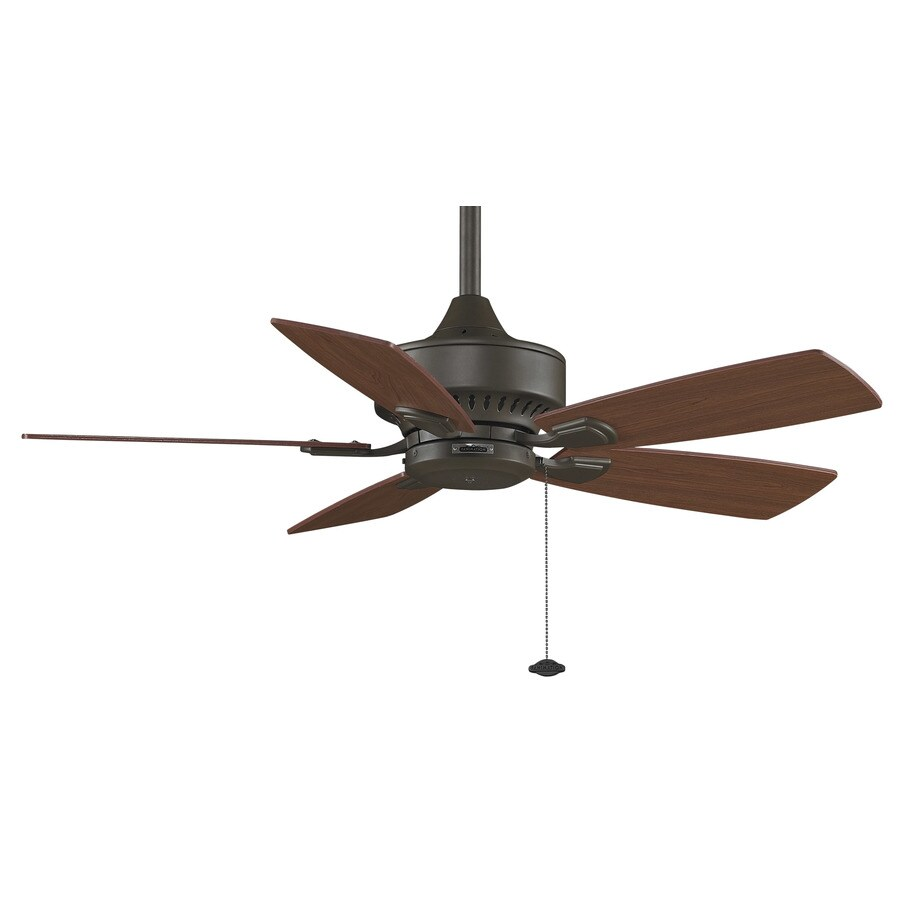 Fanimation Cancun 42-in Oil-Rubbed Bronze Downrod Mount Indoor/Outdoor Ceiling Fan