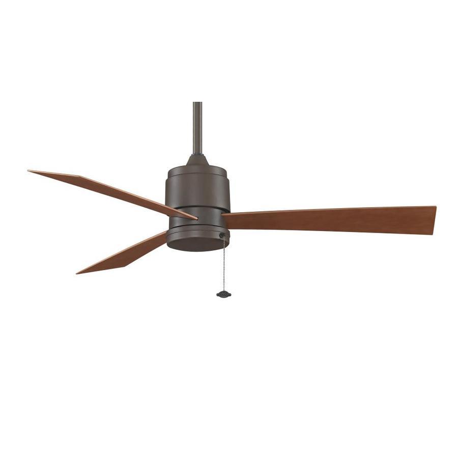 Fanimation Zonix Wet Location 52-in Satin Nickel Downrod Mount Indoor/Outdoor Residential Ceiling Fan (3-Blade) ENERGY STAR