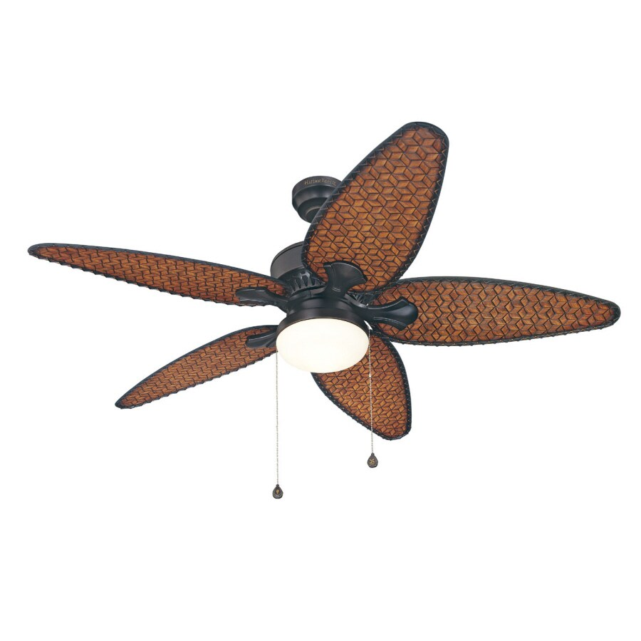 Harbor Breeze 52-in Southlake Aged Bronze Outdoor Ceiling Fan with Light Kit