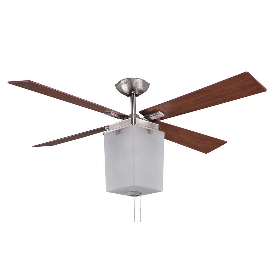 allen + roth Le Marche 56-in Brushed Nickel Downrod Mount Indoor Ceiling Fan with Light Kit (4-Blade) ENERGY STAR