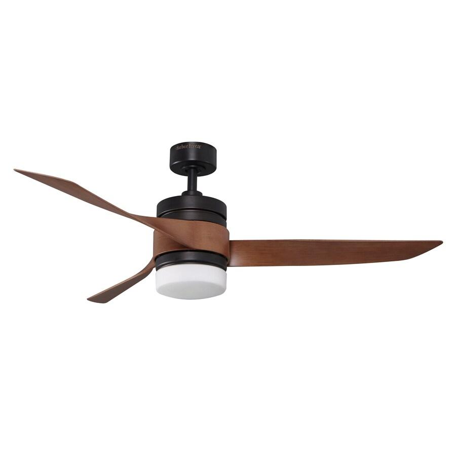Harbor Breeze 52-in Goldey Aged Bronze Ceiling Fan