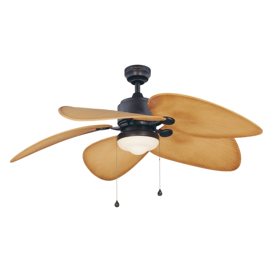 Shop Harbor Breeze 52 In Freeport Aged Bronze Outdoor Ceiling Fan With Light Kit At