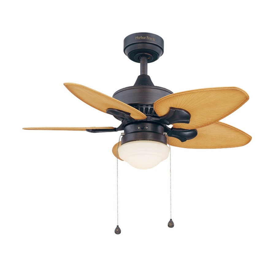 Harbor Breeze 36-in Southlake Aged Bronze Outdoor Ceiling Fan with Light Kit