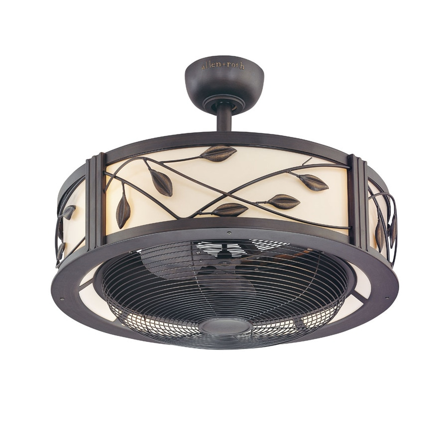 allen + roth Eastview 23-in Aged Bronze Downrod Mount Indoor Ceiling Fan with Light Kit and Remote (3-Blade)
