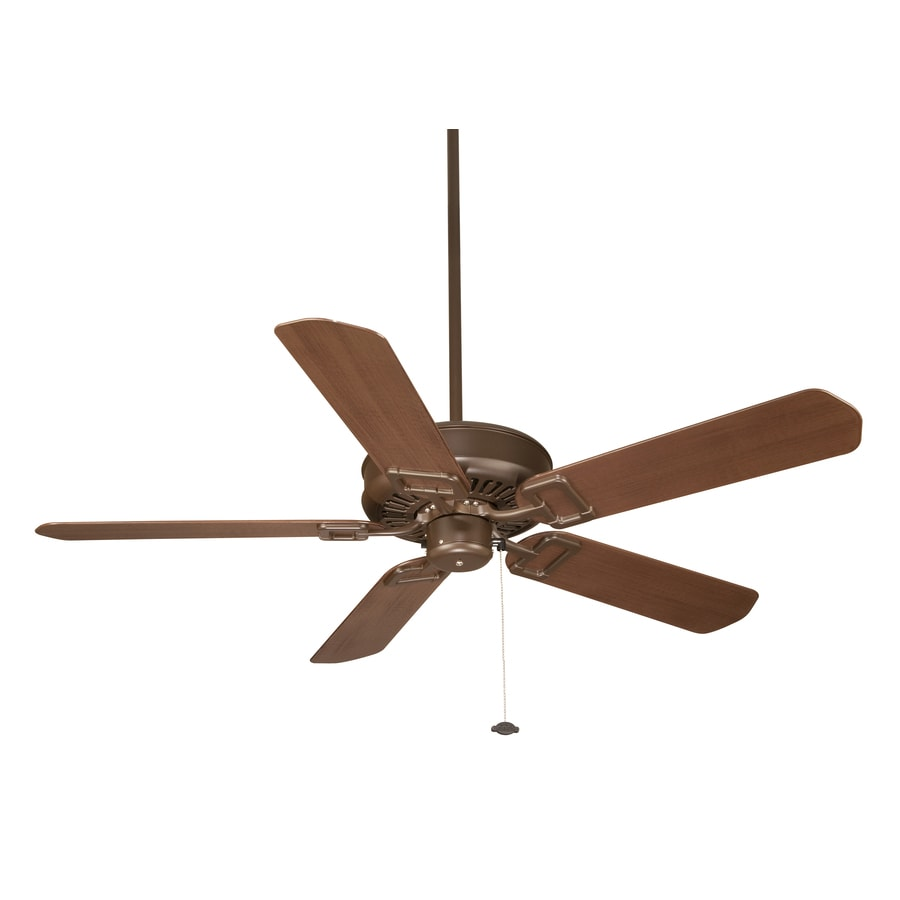 Fanimation Edgewood 50-in Oil-Rubbed Bronze Outdoor Downrod Mount Ceiling Fan ENERGY STAR