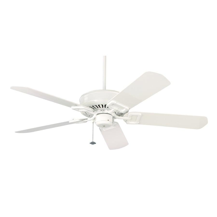 Fanimation Edgewood 50-in White Outdoor Downrod Mount Ceiling Fan ENERGY STAR