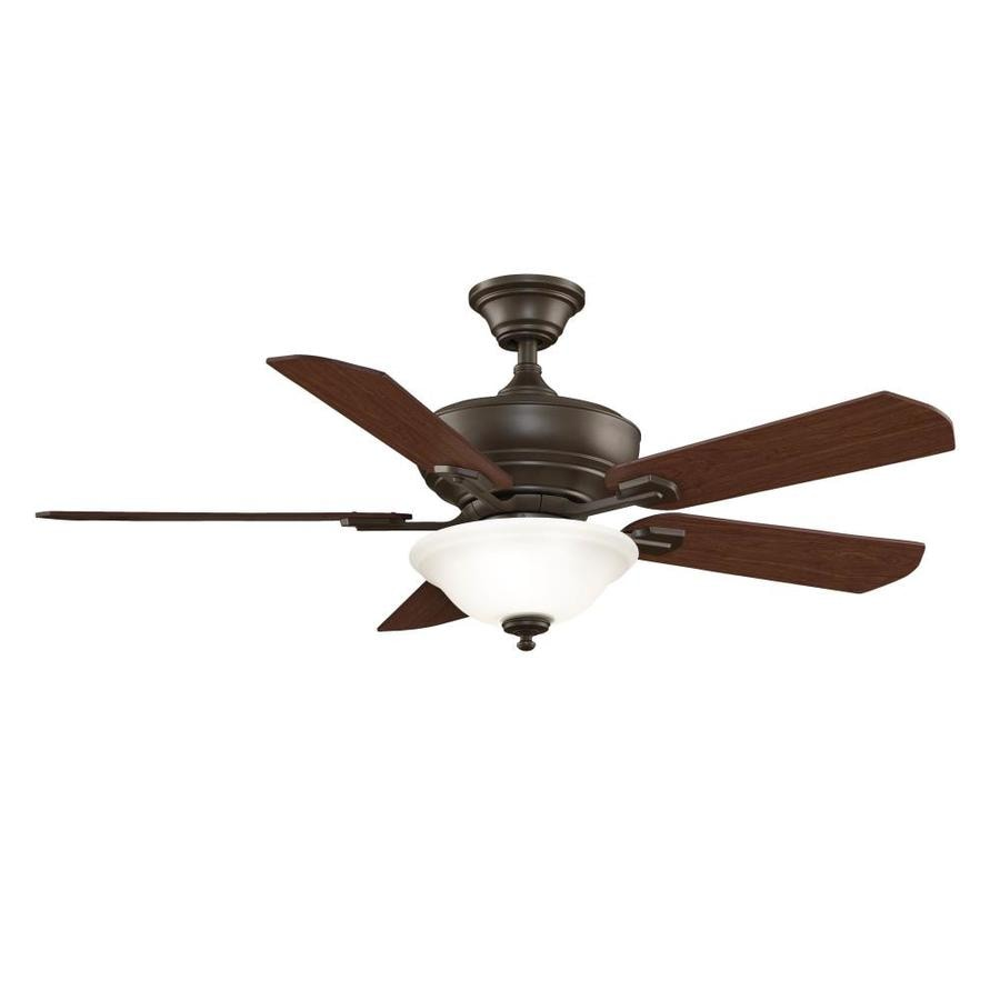 Fanimation Camhaven 52-in Oil-Rubbed Bronze Downrod Mount Indoor Ceiling Fan with Light Kit and Remote