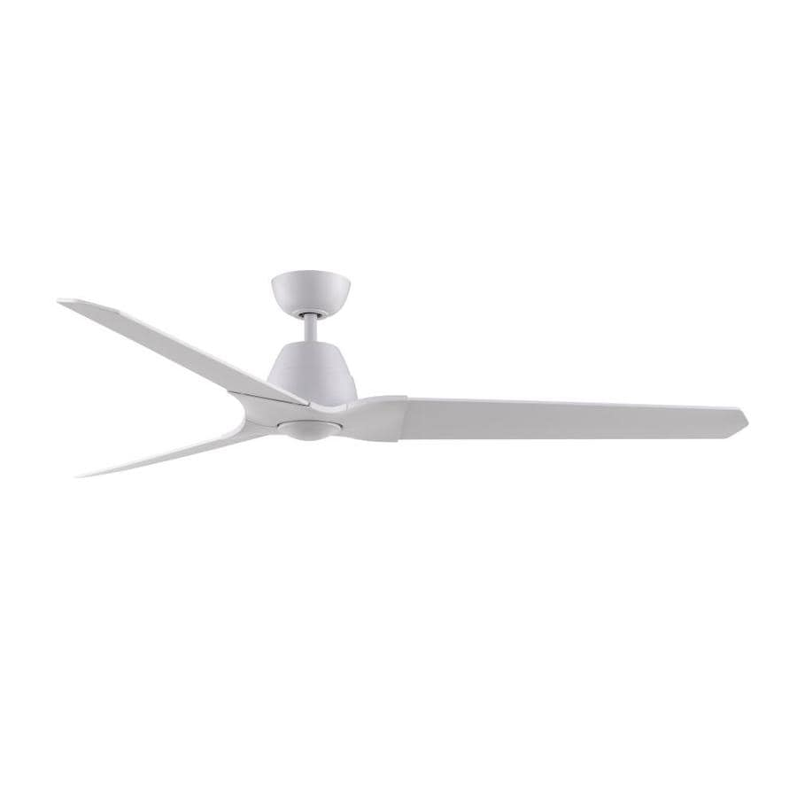 Fanimation Wylde 72-in Matte White Downrod Mount Indoor Ceiling Fan with Light Kit and Remote (3-Blade)