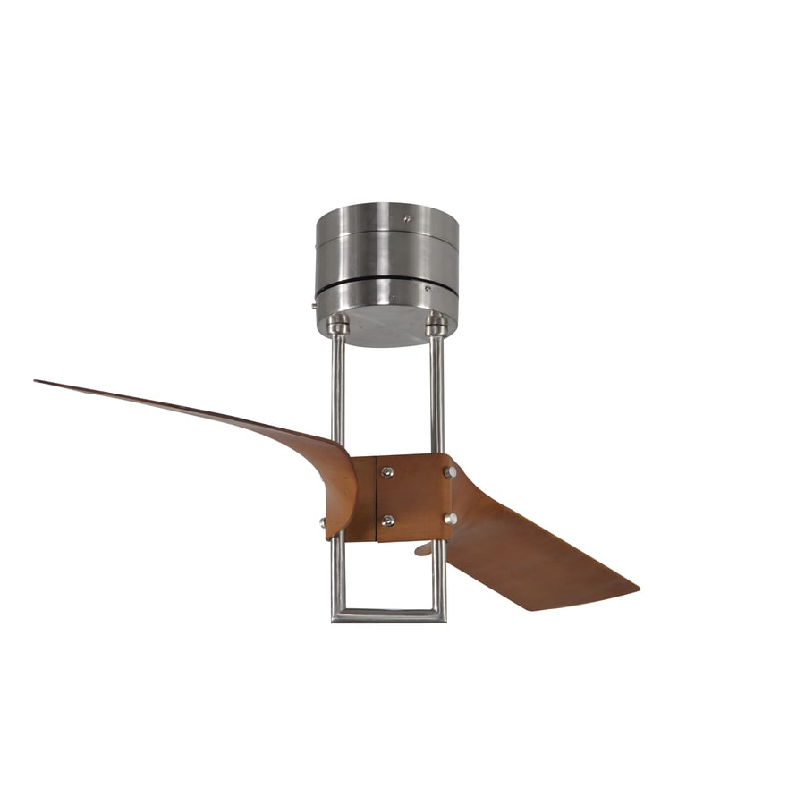 Harbor Breeze Revel Island 52-in Brushed Nickel Flush Mount Indoor Ceiling Fan with Remote (2-Blade)