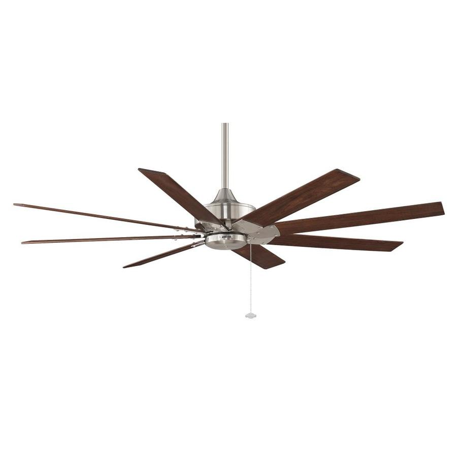 Fanimation Levon 63-in Brushed Nickel Downrod Mount Indoor Residential Ceiling Fan (8-Blade) ENERGY STAR