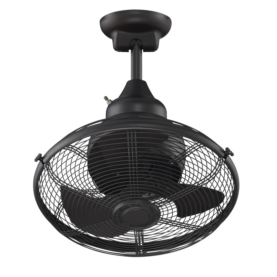 Fanimation Extraordinaire 18-in Black Downrod Mount Indoor/Outdoor Commercial/Residential Ceiling Fan with Remote (3-Blade)