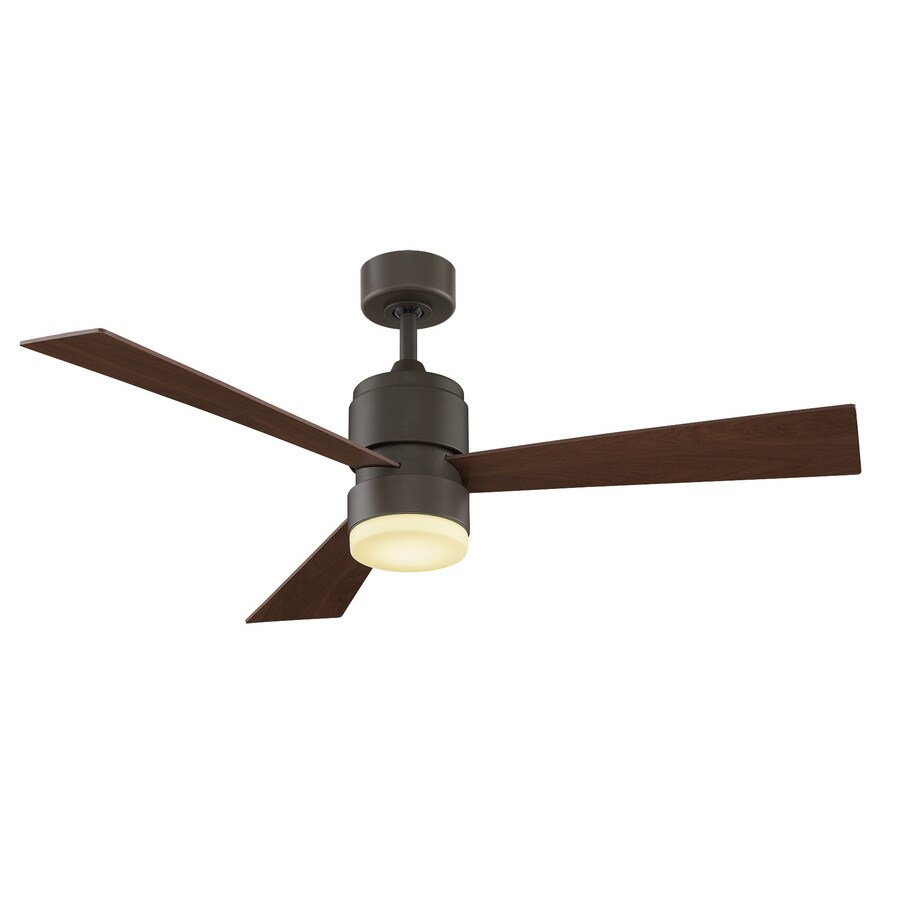 Fanimation Zonix 52-in Oil Rubbed Bronze Downrod Mount Indoor/Outdoor Residential Ceiling Fan with LED Light Kit and Remote (3-Blade)
