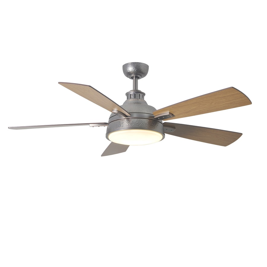 allen + roth Kellerton 52-in Burnished Bronze Downrod Mount Indoor Ceiling Fan with Light Kit with Remote