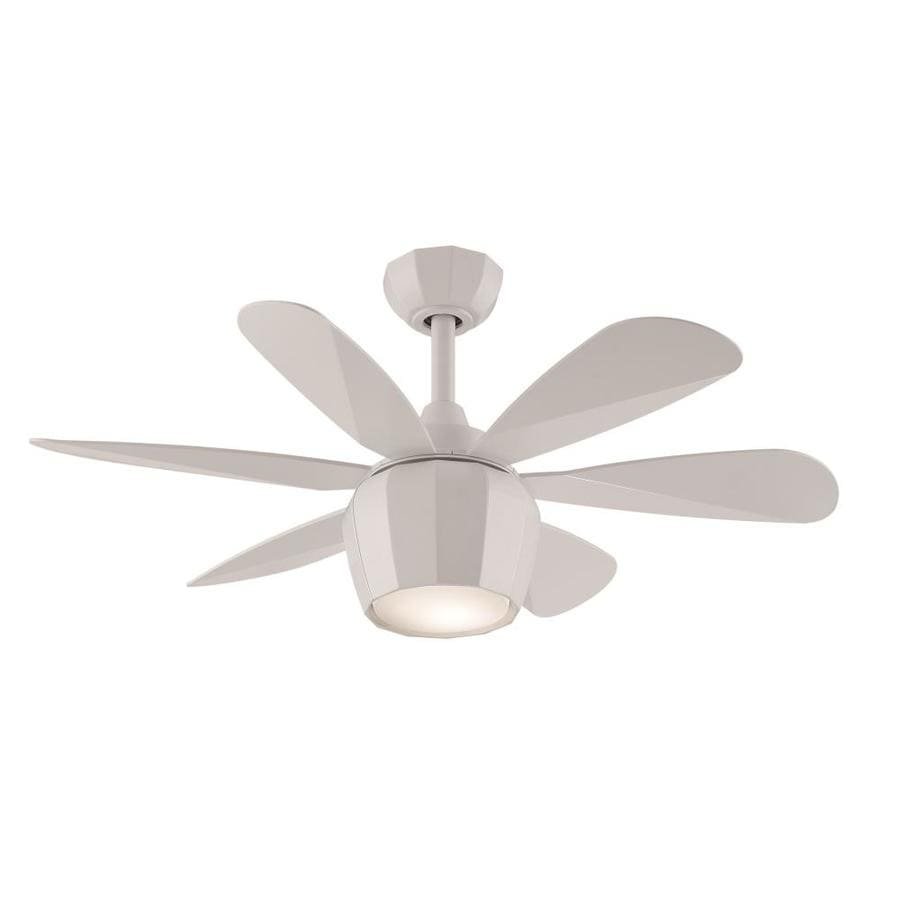 Shop fanimation studio collection crease 36 in matte white for Funky ceiling fans