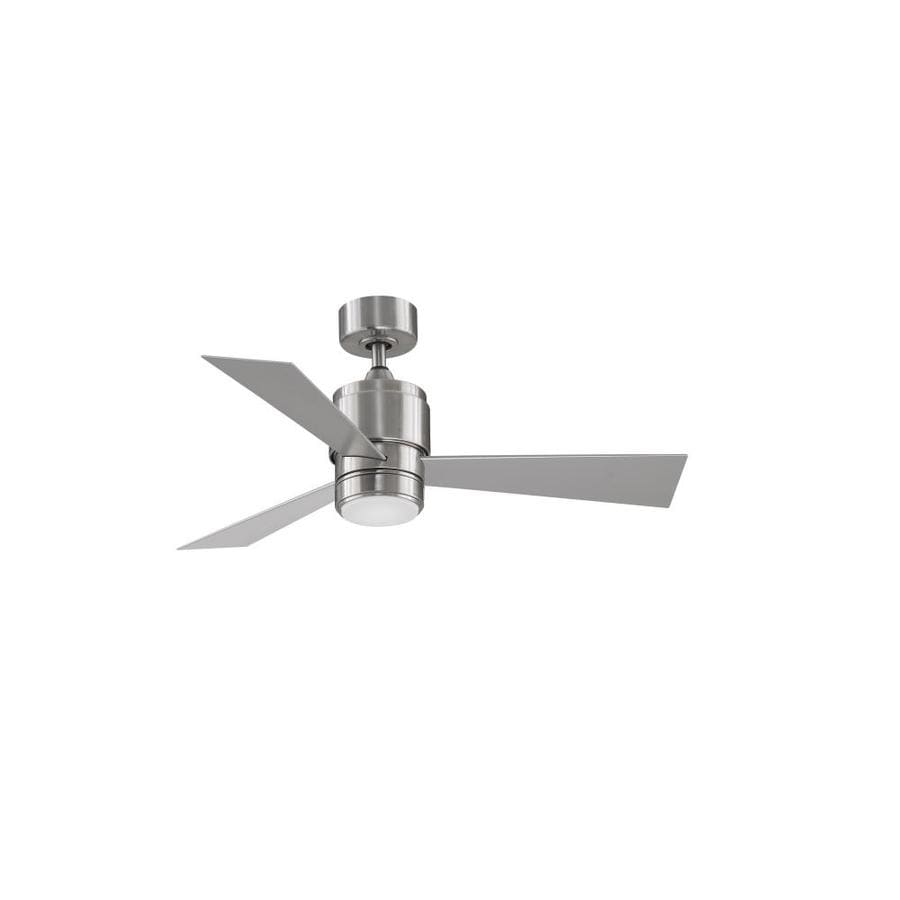 Fanimation Zonix Wet 44 In Brushed Nickel Led Indoor Outdoor Ceiling Fan 3 Blade In The Ceiling Fans Department At Lowes Com