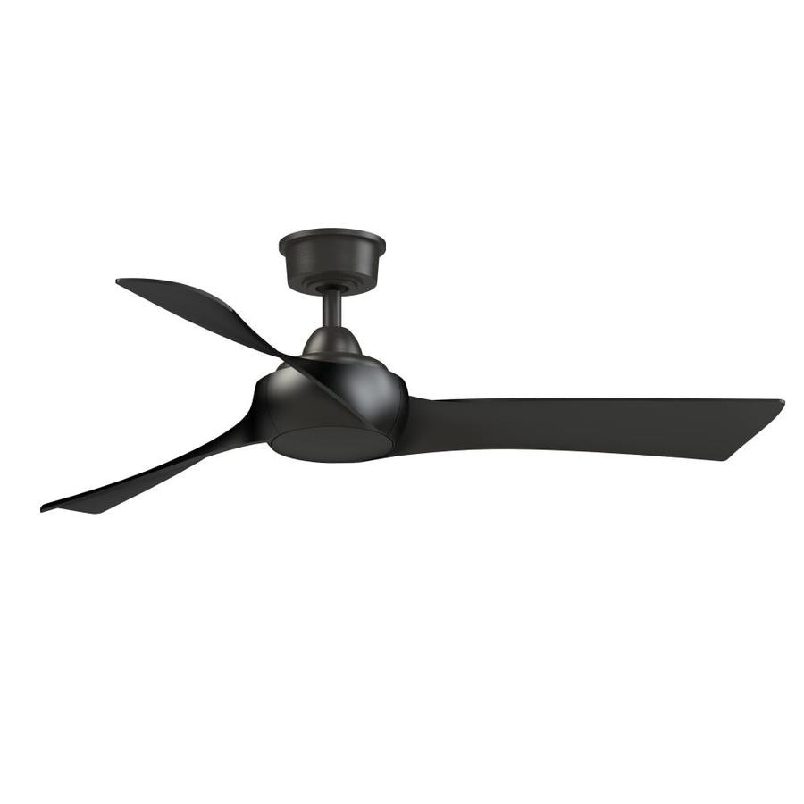 Fanimation Wrap Custom 52 In Dark Bronze Indoor Outdoor Ceiling Fan With Remote 3 Blade In The Ceiling Fans Department At Lowes Com