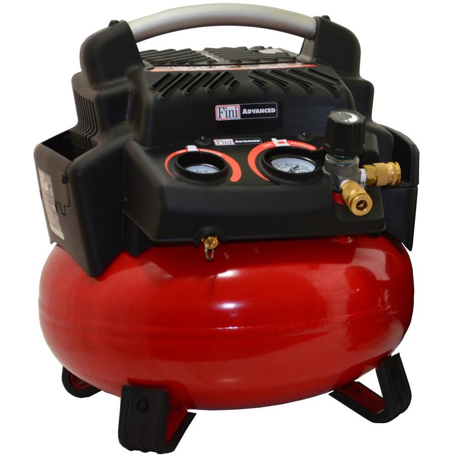 Fini 1.5-HP 6-Gallon 150-PSI 120-Volt Pancake Portable Electric Air Compressor