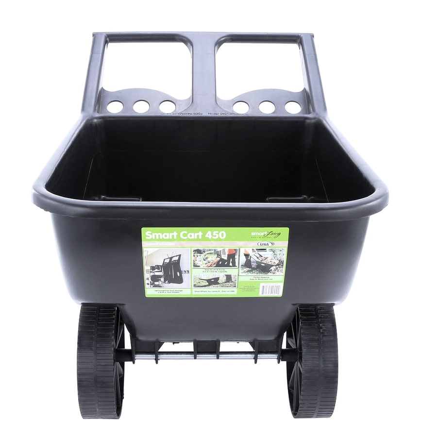 Shop Smart Garden 4 5 Cu Ft Poly Yard Cart At Lowes Com