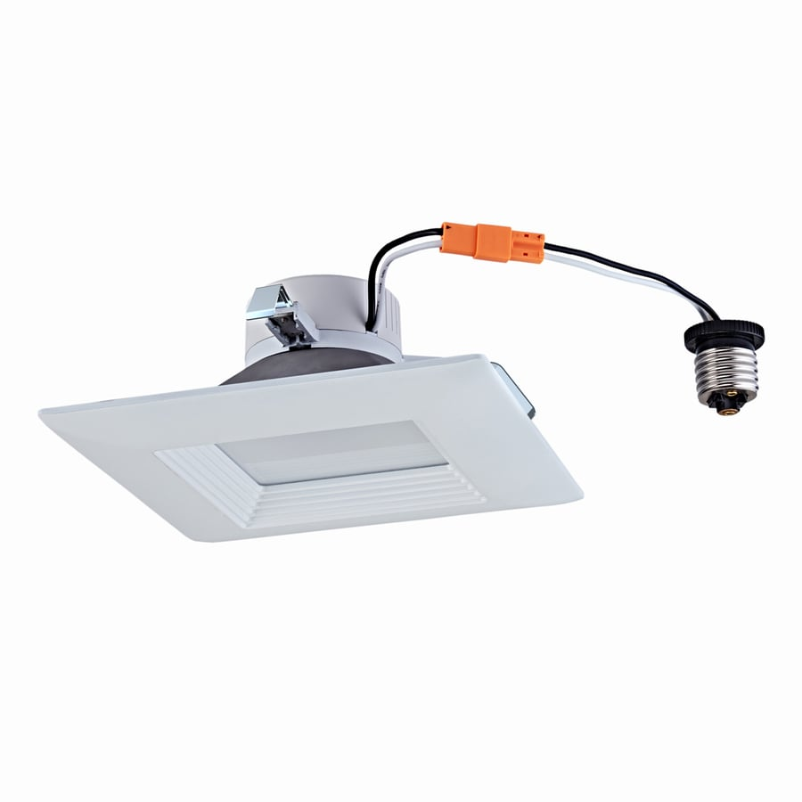 Utilitech 4 In White Integrated Led Remodel Recessed Light: Shop Utilitech 65-Watt Equivalent White LED Recessed
