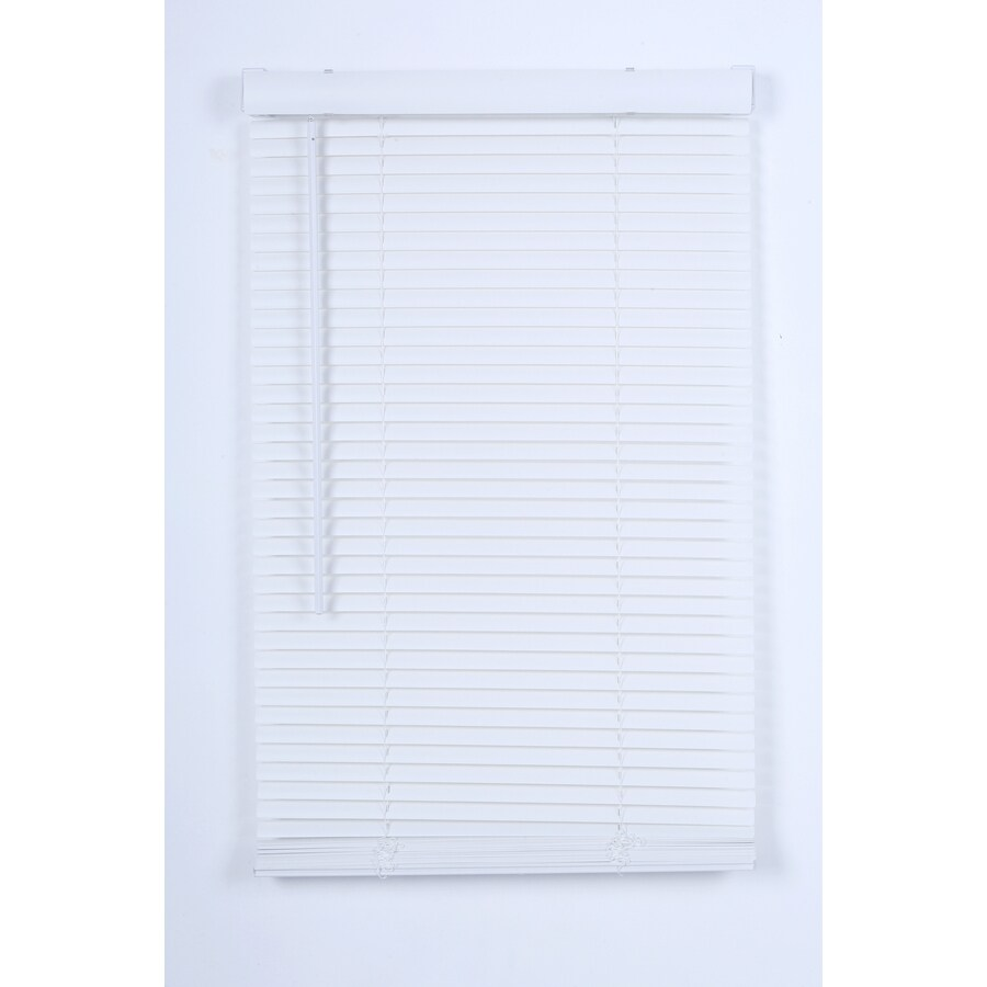 Project Source 1-in Cordless White Vinyl Light Filtering Mini-Blinds (Common 23-in; Actual: 22.5-in x 42-in)