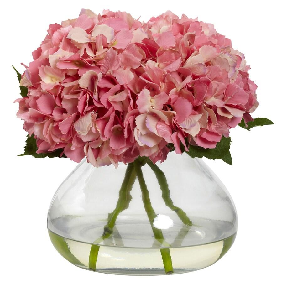 Nearly Natural 9-in Pink Silk Arrangement