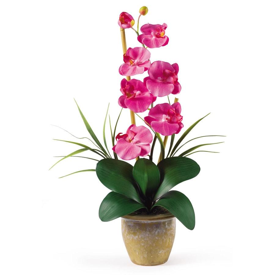 Nearly Natural 21-in Pink Silk Arrangement